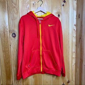 Nike therma fit red full zip performance hoodie